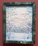 Картина из камня Зима